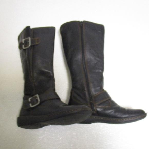43496a44c0b Born BOC Black Leather Zip Comfort Boots 7 / 38